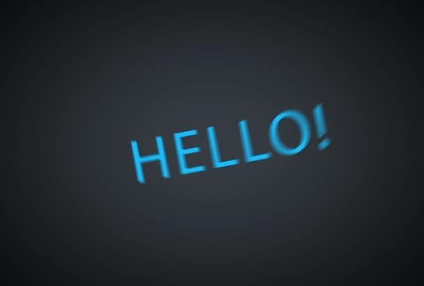 create Wonderful Kinetic Typography Video