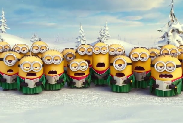 put your text and logo in this Christmas Minion
