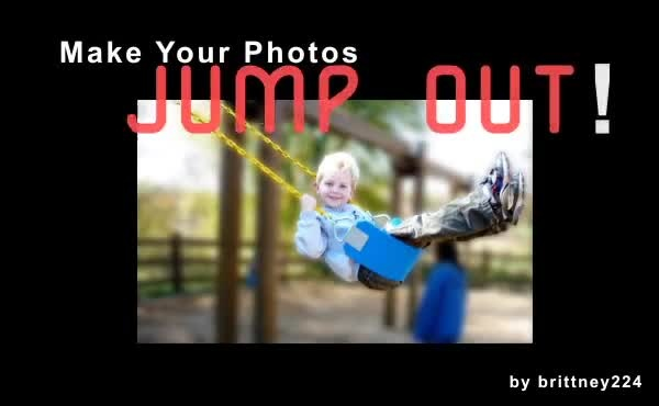 create a 3D effect by blurring the background of your photo