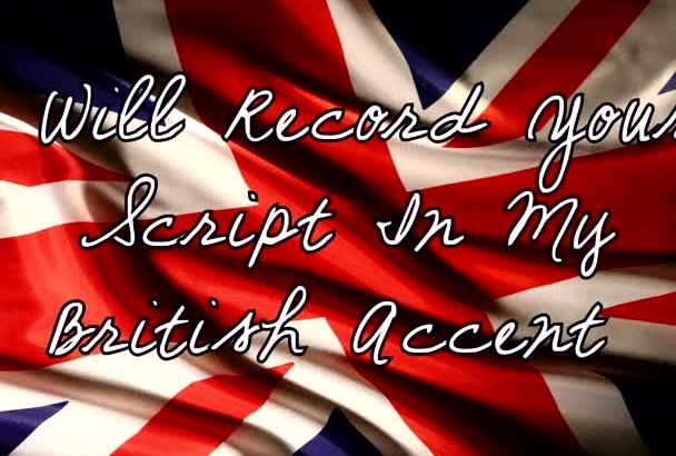 record a Professional Female Voice Over In British Accent