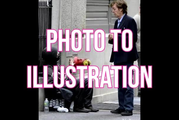 create an illustrated look from your photograph