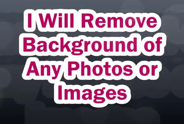 remove background of any photos or images