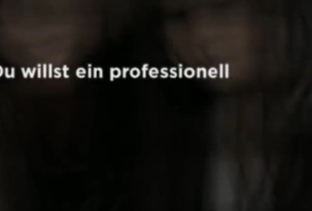 create a professional video for your business in German