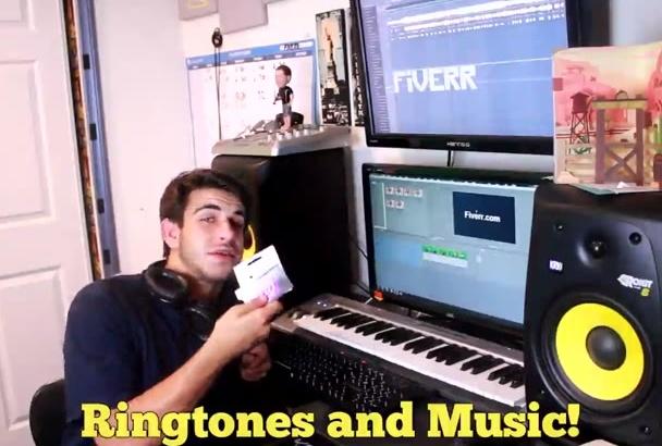 5 Custom Ringtones or 10 songs