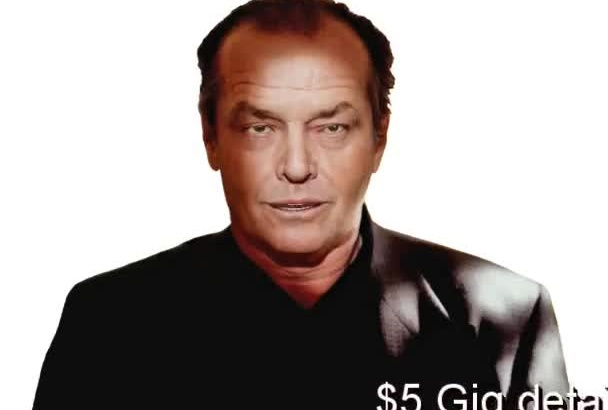 make a Jack Nicholson VIDEO Message, Greeting, eCard