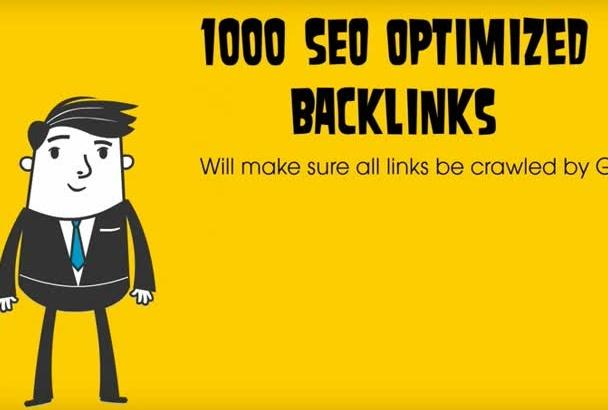 1000 SEO optimized google friendly backlinks