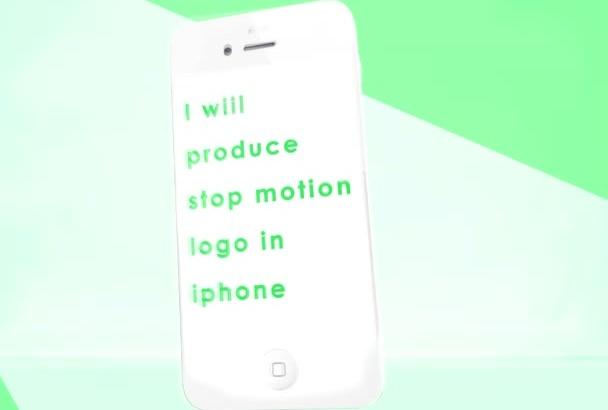 producir vídeo de logo animado en el iPhone