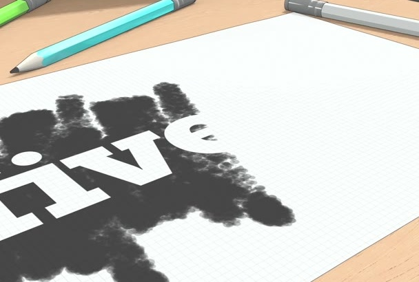 create an amazing 3D Sketch Logo Intro