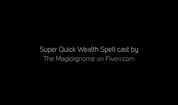 cast a spell for super quick wealth