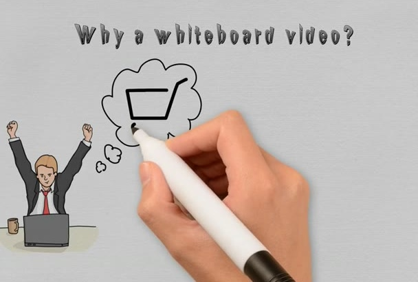 make an interesting WHITEBOARD video animation