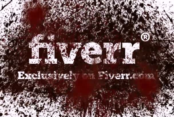reveal your logo in a horror BLOOD bath