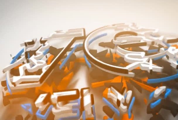 awesome 3D animated Logo Intro Video 24hrs