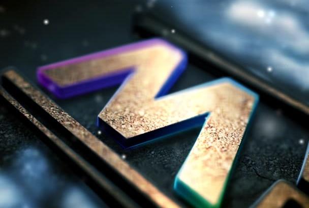 create This Amazing 3D gold Winter Logo Intro
