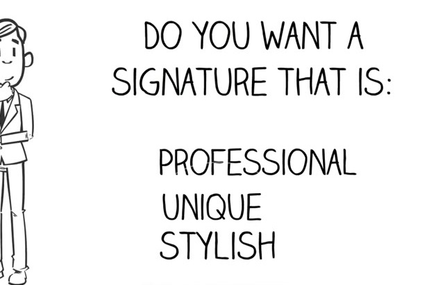 design a professional hand written signature