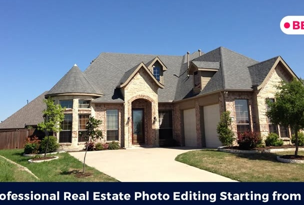 professionally edit real estate property photos
