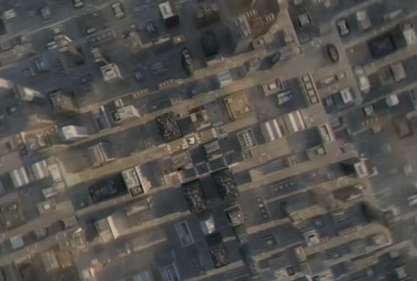 make amazing earth zoom on to city street logo intro