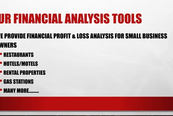 provide a profit and loss analysis for buying a restaurant in excel