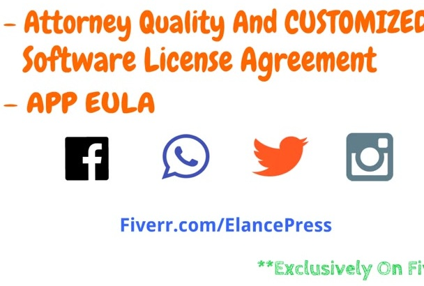 write A Customized App EULA or Software License Agreement For Your Software