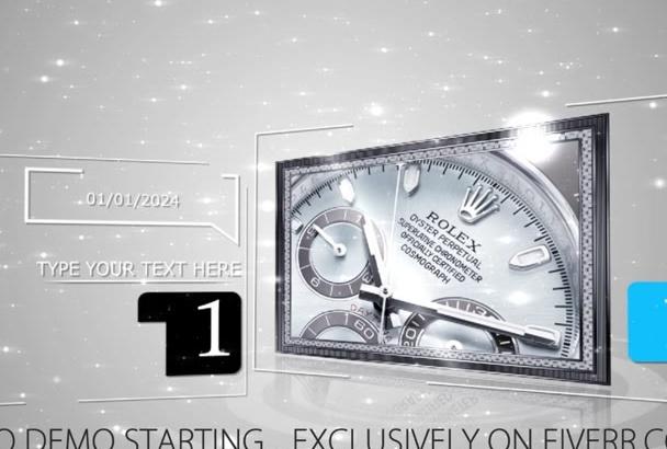 design an Elegant Diamonds Video Style in HD 1080p