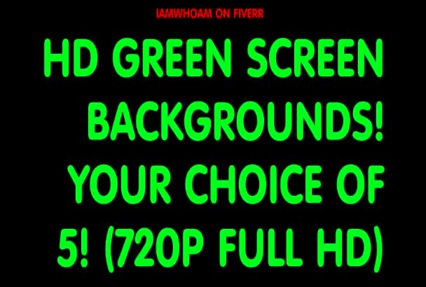 give you 5 Green Screen Video Backgrounds