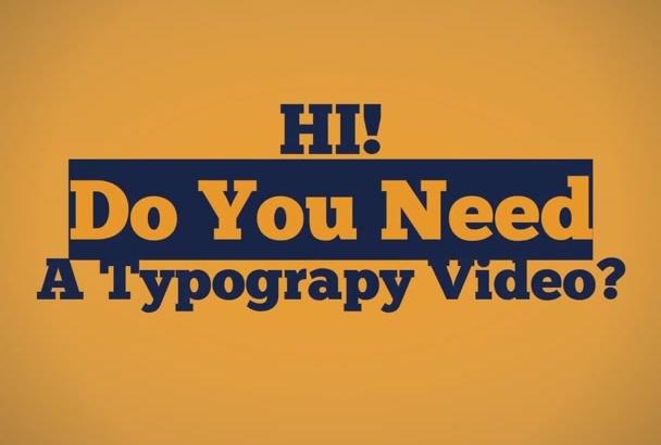 make typography animation videos