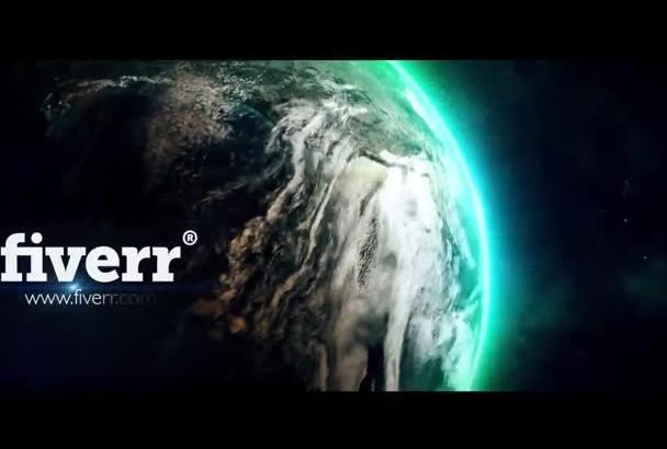 create a EPIC Earth logo intro