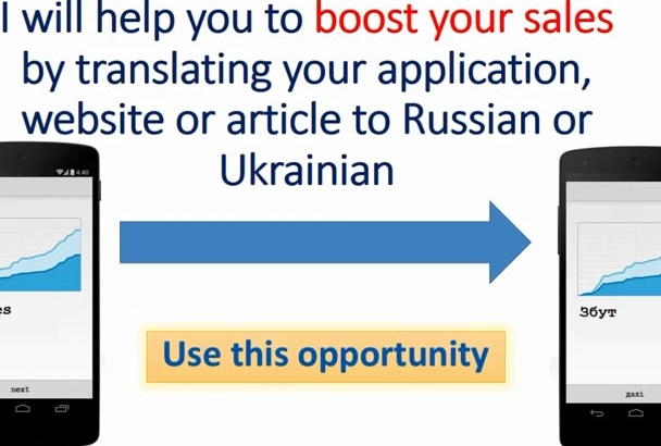 translate app, article or review to Ukrainian or Russian