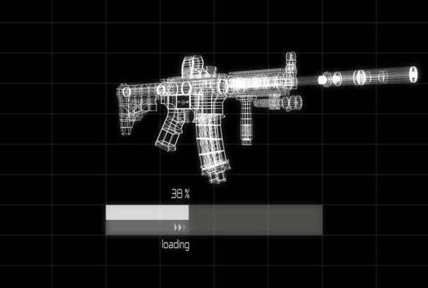 reveal your logo with a 3D RIFLE loader