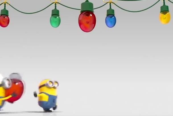 create This MINION Holiday Video Greeting