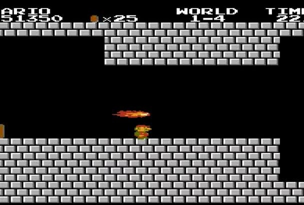 write your message on this HD Super Mario Video