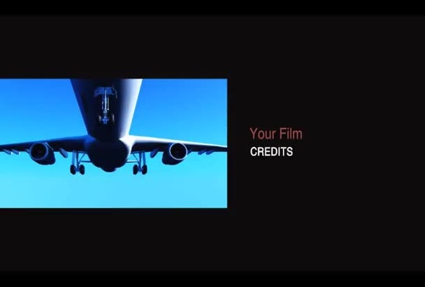 create Great Film Credits or Ending as HD Movie