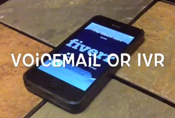 record a voicemail for you or your company
