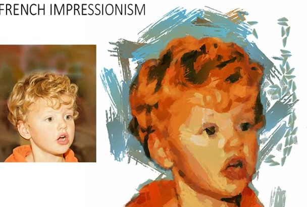 turn your photo into a Rembrandt, Van Gogh digital painting