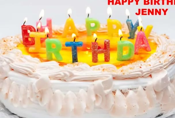 sing a customized birthday video song