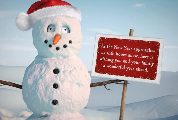 customize this funny Christmas greeting
