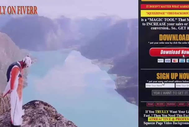 create High Converting Video Landing page