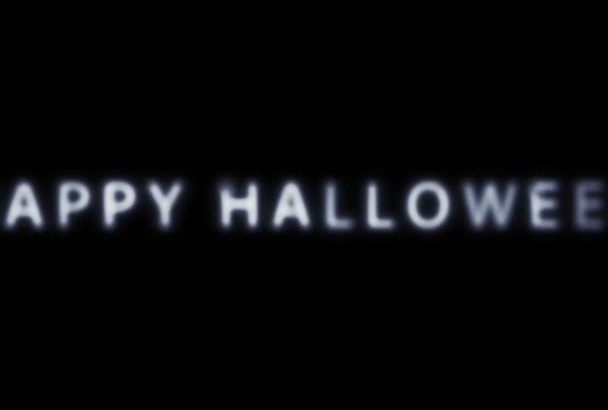 create a beautiful scary Halloween Video intro