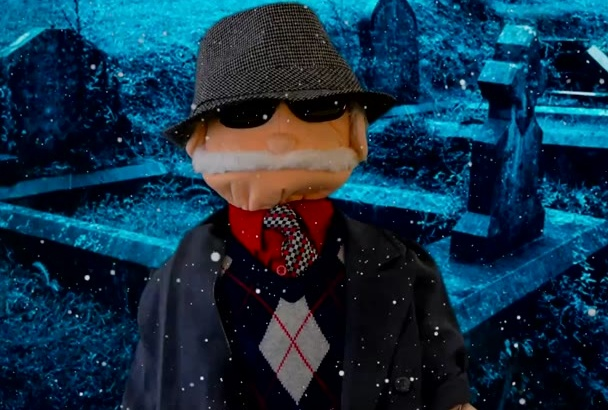 create a gangster mobster mafia puppet video message in English or Spanish