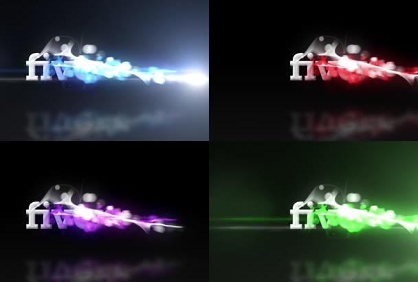 do 3 FAST particle logo intro reveals in any color