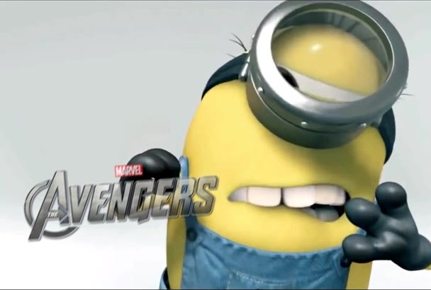 create a 3d funny intro with minions full hd free