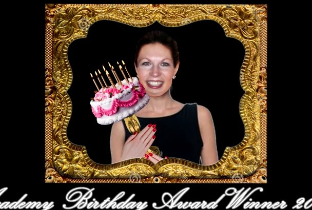 personalize this Academy BIRTHDAY Award Video