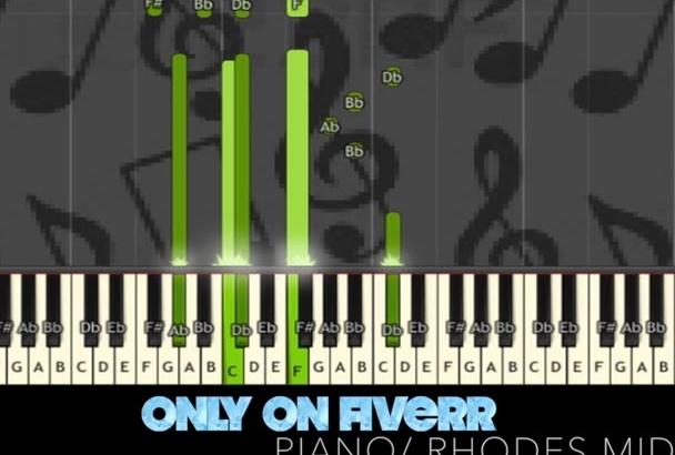 send u video and midi file of a jazzy piano rhodes solo