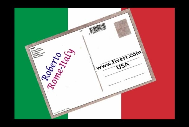 send you a POSTCARD from Rome Italy