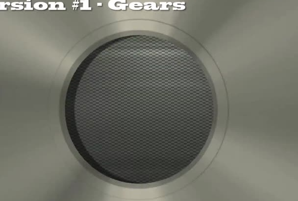 create spinning gears and cogs countdown reveal video