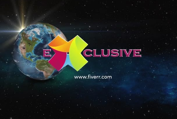 make Amazing Earth logo video intro