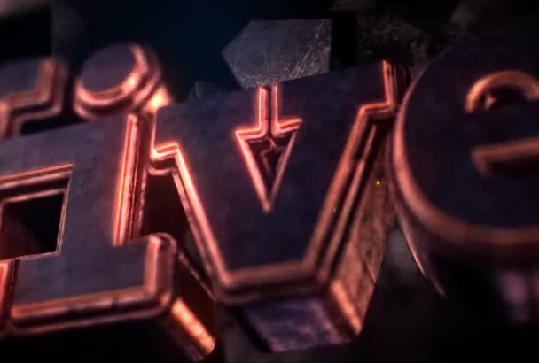 create Dark Glow 3D Effect Logo or Text with Sound
