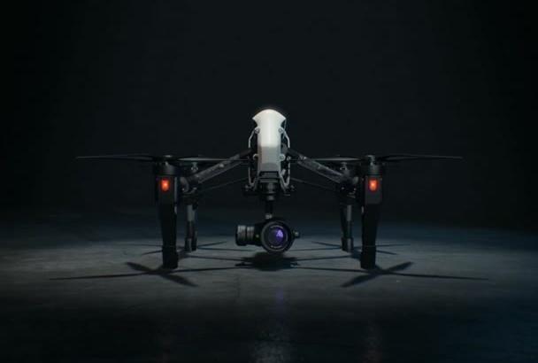 create a quadcopter drone intro