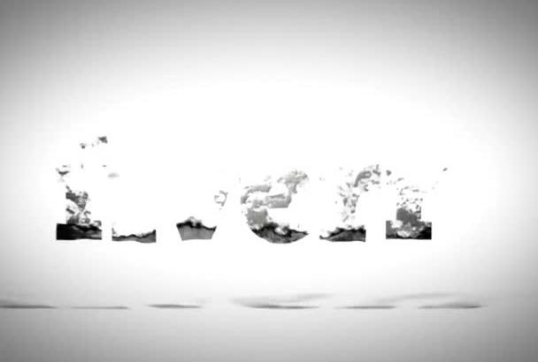 create this beautiful water logo reveal video