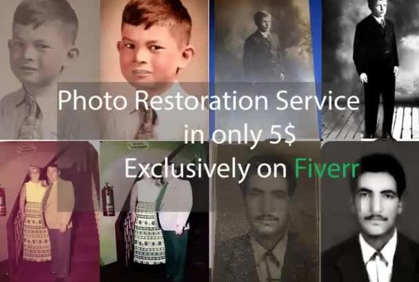 restore old, Damaged photos professionally
