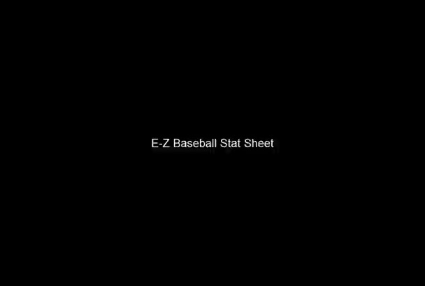 send you an easy to use Baseball team statistics Excel template for a coach